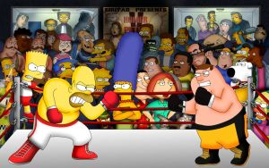 Homer versus Peter by Shuyab