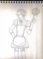 Nicolae in drag, pic 1 -- Maid by Ace-the-FSMLC