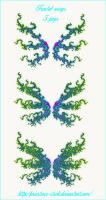 fractal wings set by priesteres-stock