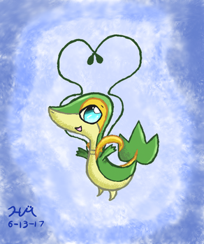 Grass the Snivy, Great Against Water/Ground Types by HarmonytRocketEeveon