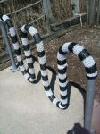 beetlejuice yarn bomb by knittleson