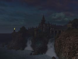 Fantasy castle background 13 by indigodeep