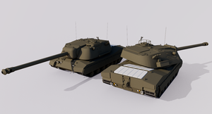 155mm Gun Combat Tank M240 by TheoComm