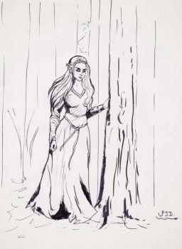 Girl in the woods by kisusie