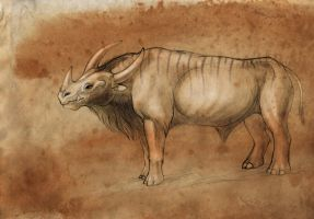 Bull from the planet Esvarra by hontor