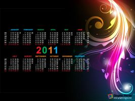 2011 Calendar Abstract by rafiqelmansy