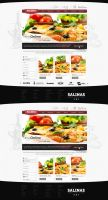 Pizza Business Web Design by vasiligfx