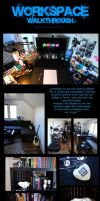my current workspace - march2014 by oomizuao