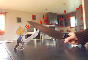 CM for cartoonhero777: Cloud Strife VS MlleLowra by MlleLowra