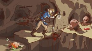 Link Facing the Depth by Jo-Onis