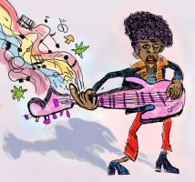 Jimi Hendrix by Art-of-Eric-Wayne