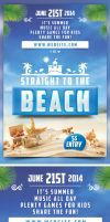 Straight to the Beach Flyer Template by bouzix