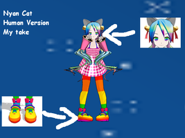 MMD-Nyan Cat Human by modeldoodle22k