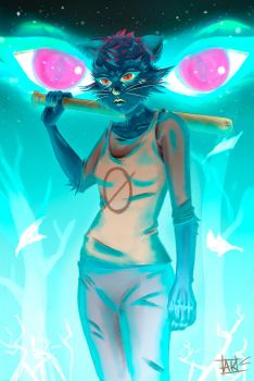 NIGHT IN THE WOODS - Mae by ana-k89