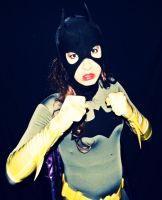 Batgirl Cosplay - In the headlights 2 by ozbattlechick