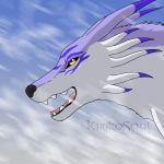 Garurumon - Art Trade with NekoHime07 by KirikoSoul