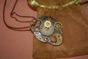 Steampunk Necklace by p0w3rmad