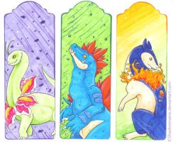 Pkmn bookmark starters gen2 by Shadowmanic