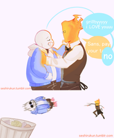 Undertale comic: Sansby confession by atomicheartlight