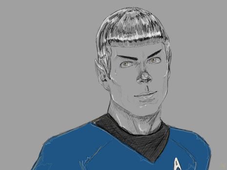 Spock by SaraMFDraws