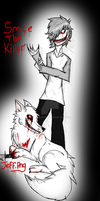 Smile the killer and Jeff.png....? by DRAGOXWOLF