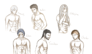 Hot shirtless men!!! by mempsis