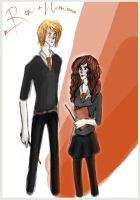 Ron and Hermione by xxIgnisxx