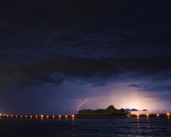 Lightning on the ship 2 by VicK88