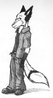 crosshatch Fox-Chan by arcticfoxie