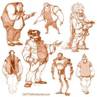 Characters 47d by Dattaraj
