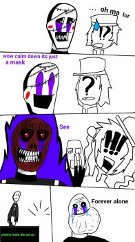 FnaF is just a mask. by HidanXart