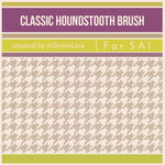 [For SAI] Houndstooth Brush by ASlovesLisa