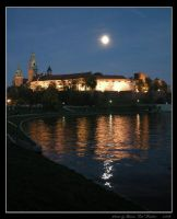 Night in Cracow - TheWawelHill by Lady-CaT