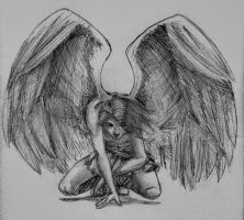 dissapointed angel by felixstorm
