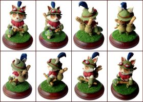 Teemo Sculpture Alternate Views by LeiliaK