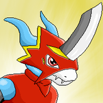 Flamedramon - Pixel Avatar by AC-whiteraven