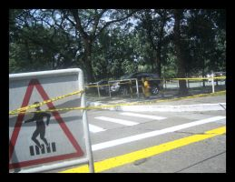 Caution: Ped Xing by mankeeman