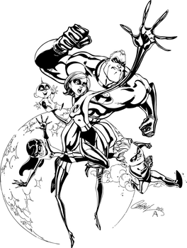 The Incredibles - High res Inks by J-Skipper