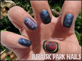Jurassic Park Nails by Ninails