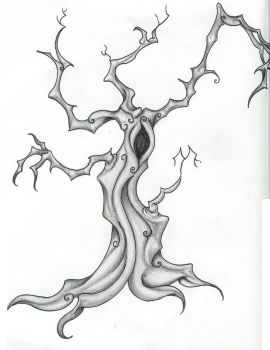 Creeeepy creepy tree by anglphyre