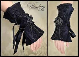 Black gothic cuff bracelet by vilindery