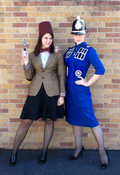 Eleven and TARDIS costumes by janey-jane
