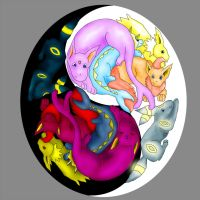 Eevee Ying Yang by ToygerCat