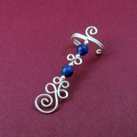 Sodalite and Sterling Ear Cuff by Gailavira