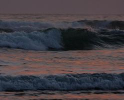 Breaking Wave with Sunset by Ruyuk