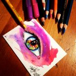 Mini Eye Drawing by Lucky978