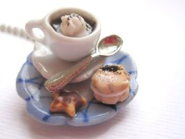 Hot Chocolate and Cookie Necklace by CandyChick