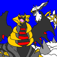 arceus and giratina by blackfiredragon33