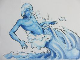 Water -male by dragon-mystica