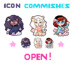 [ CLOSED ] flowery icon commishes by Sergle